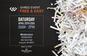 Issaquah Shred Event 2019